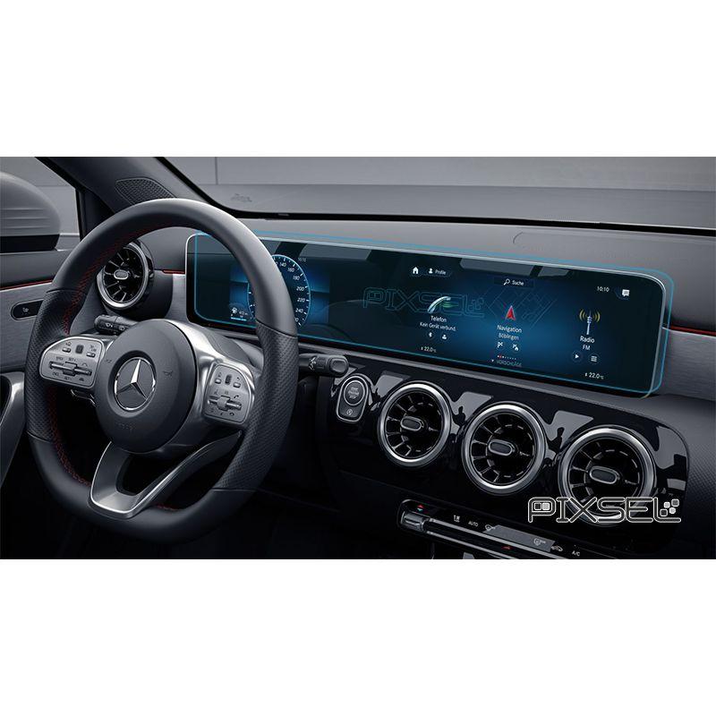 Защитное стекло на монитор Mercedes GLA-Class цельный