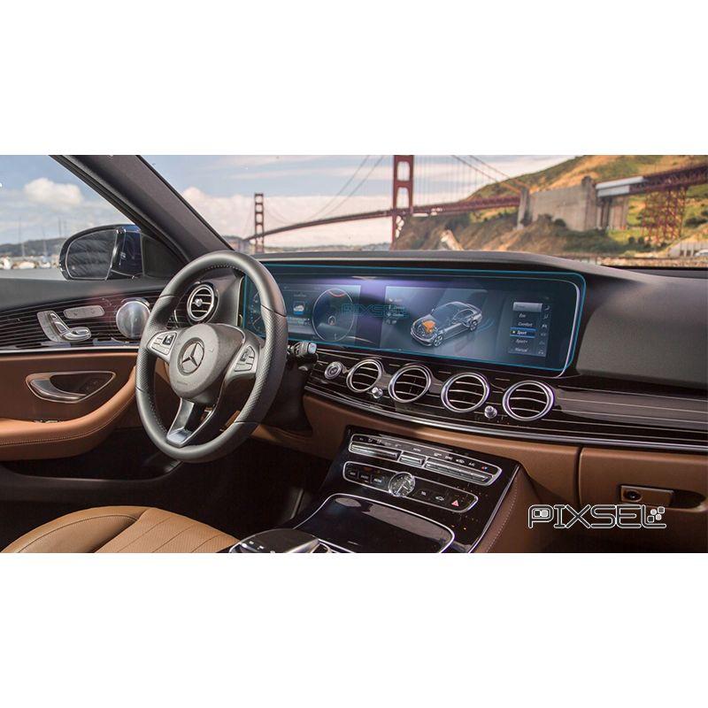 Защитное стекло на монитор Mercedes E-Class цельный