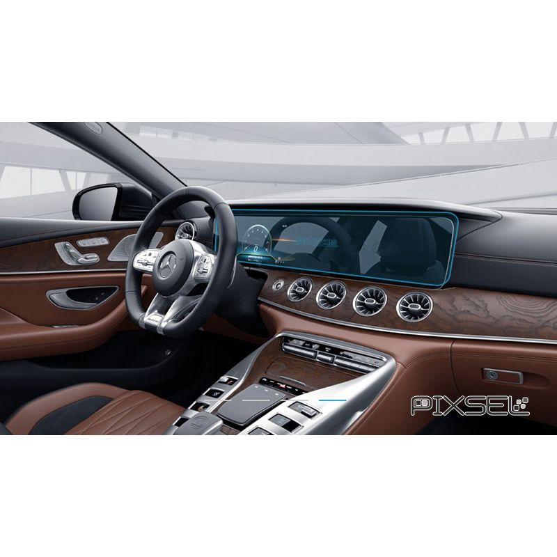 Защитное стекло на монитор Mercedes AMG GT цельный