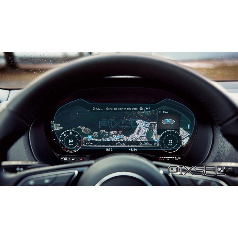 Защитное стекло на приборную панель Audi Q2