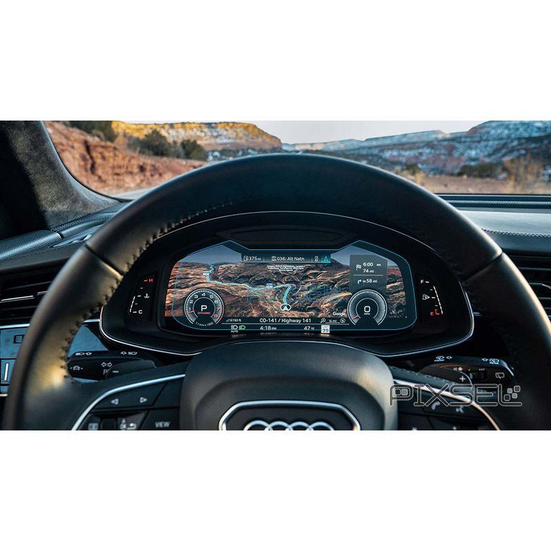 Защитное стекло на приборную панель Audi Q8 / SQ8 / RSQ8