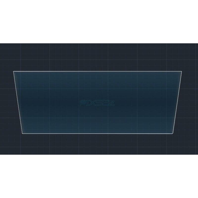 Защитное стекло на монитор DS-7 (большой скос)