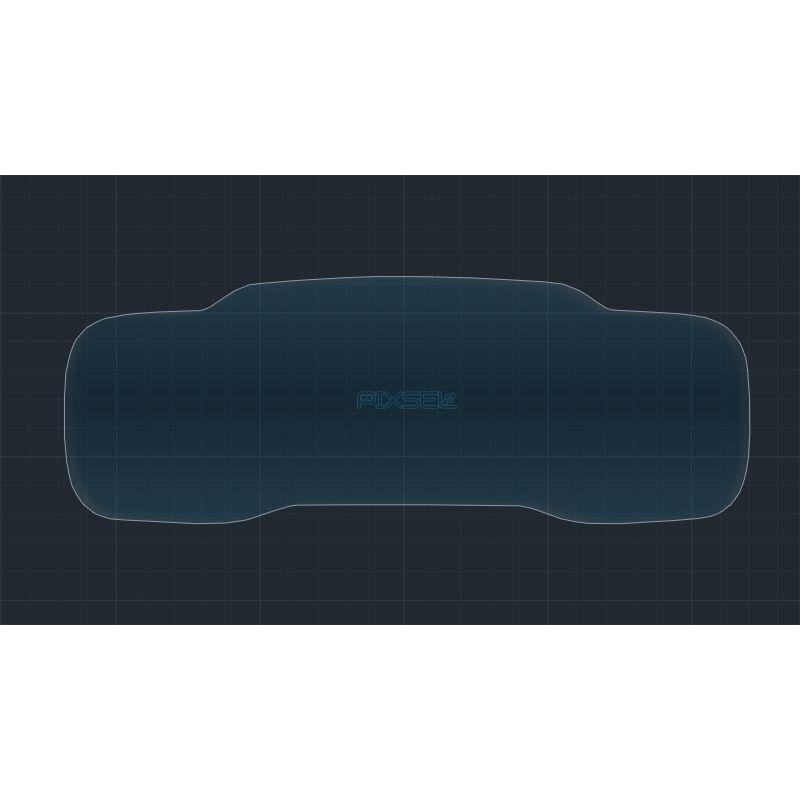 Защитное стекло на приборную панель C5 Aircross