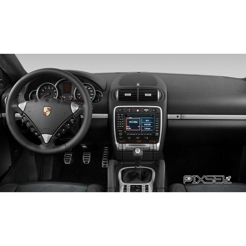 Защитное стекло на климат контроль Porsche Cayenne