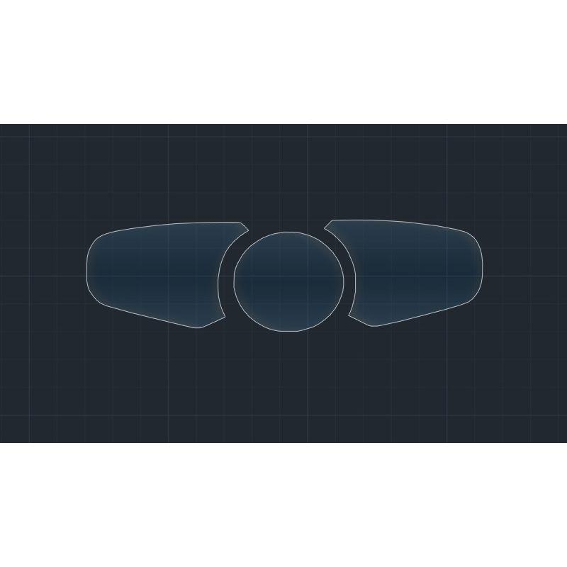 Защитное стекло на приборную панель Porsche Panamera