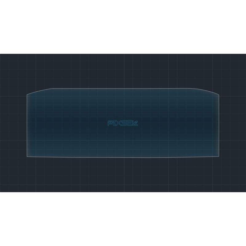 Защитное стекло на приборную панель Skoda Octavia A7