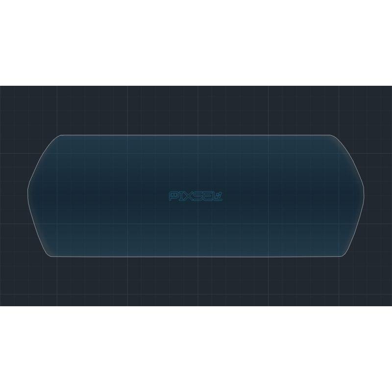 Защитное стекло на приборную панель Tesla Model X