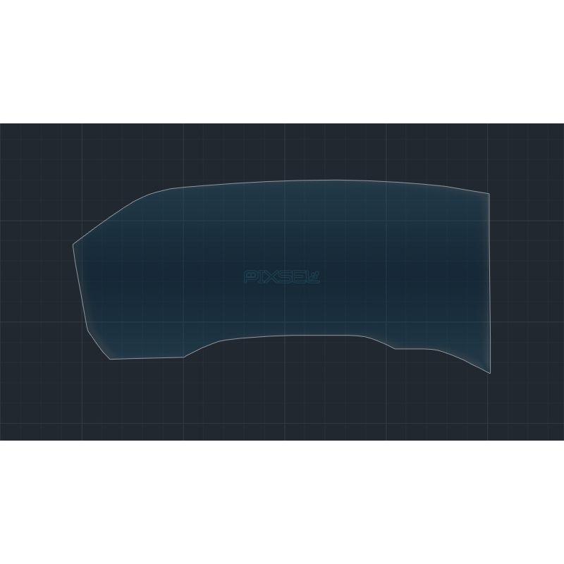 Защитное стекло на приборную панель Volkswagen Touareg