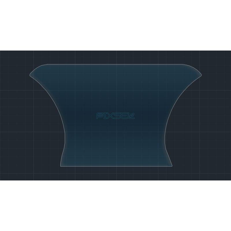 Защитное стекло на приборную панель Volkswagen Touareg (упрощенная версия)